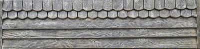 Плита бетонного забора под деревянную доску, верхушка №38